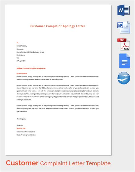 Customer Letter Complaint Complaint Letters 21 Free Word Pdf Documents Free Premium Templates