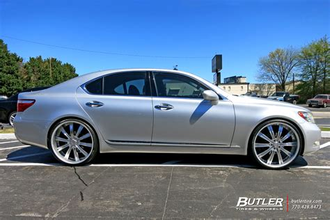 lexus ls 460 custom wheels vellano vti 24x et tire size