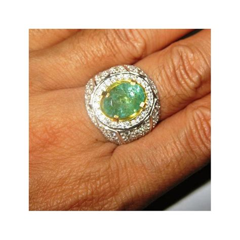 Cincin 2 In 5 cincin batu zamrud 2 72 carat ring 10 5 us silver 925