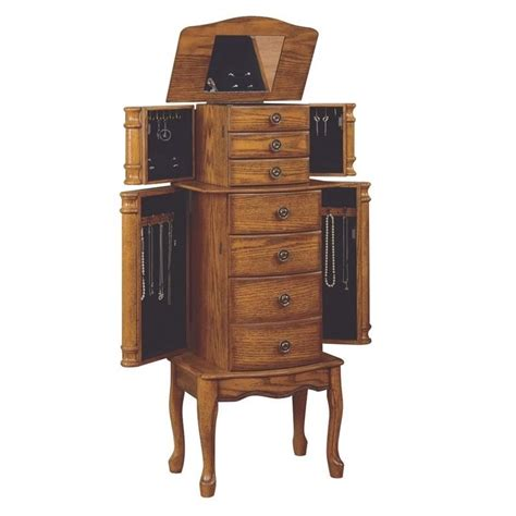 powell oak jewelry armoire powell furniture woodland oak jewelry armoire 604 315