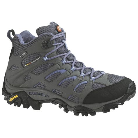 womans hiking boots s merrell 174 moab mid tex 174 hiking boots grey