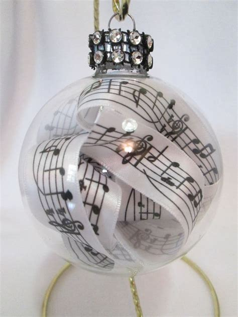 music glass ornament music notes ribbon music teacher