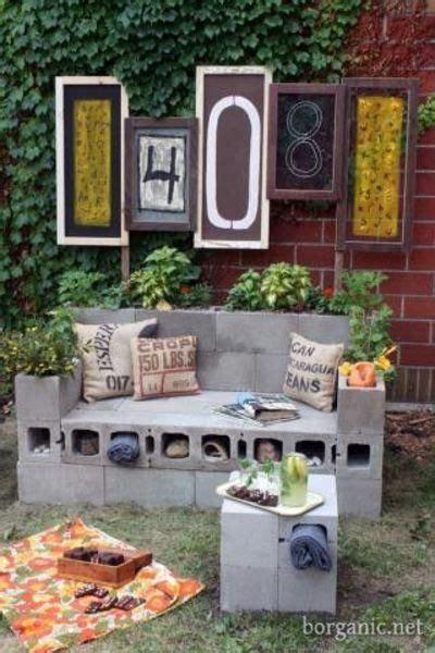 diy cinder block bench diy garden cinder block garden bench