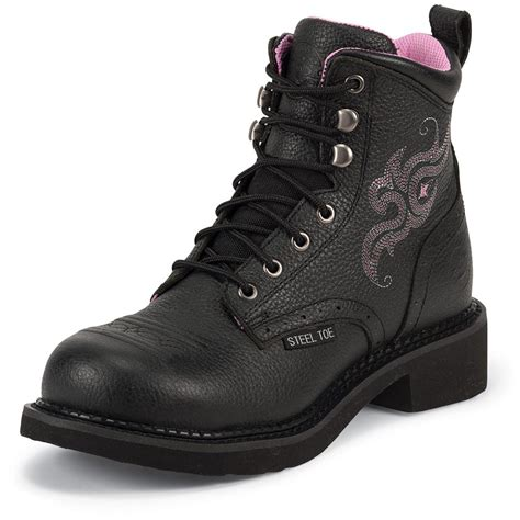 steel toed boots womens s justin 6 quot steel toe boots 582231 cowboy