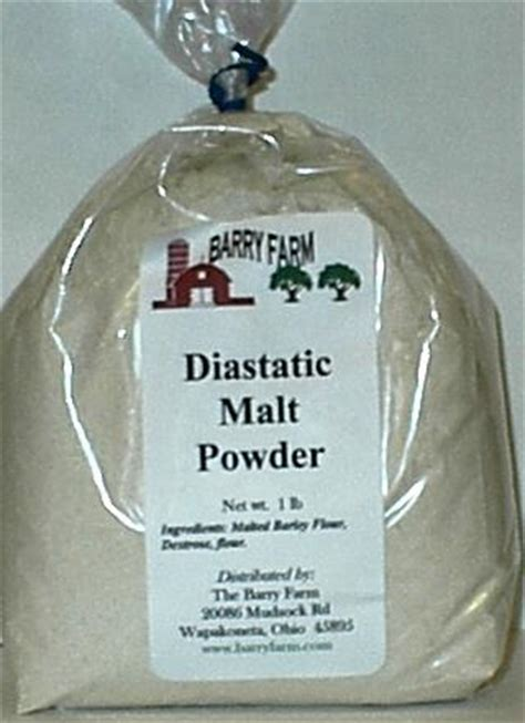 Diastatic Malt Powder 1 Lb sugar and other sweeteners