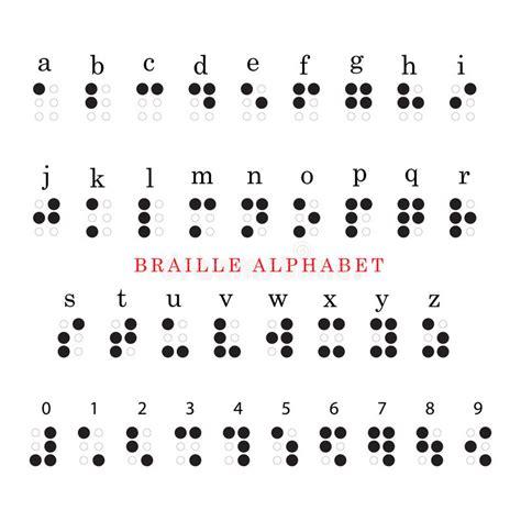 lettere braille alfabeto e numeri di braille illustrazione vettoriale