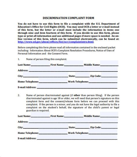 civil complaint form 10 download free documents in pdf