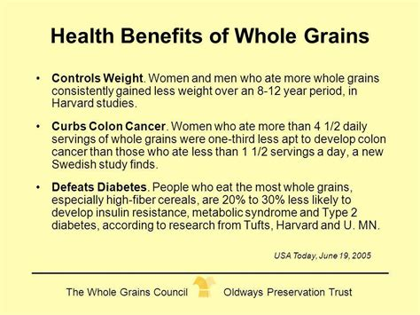 whole grains and health cynthia harriman director of food nutrition strategies