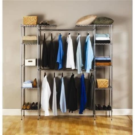 Stand Alone Closet Organizer by Seville Classics Expandable Closet Organizer She05813bz At