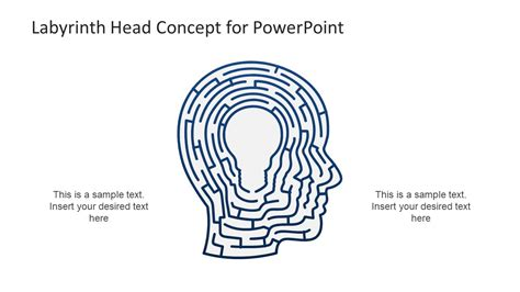 Labyrinth Head Concept Powerpoint Template Slidemodel Concept Presentation Template