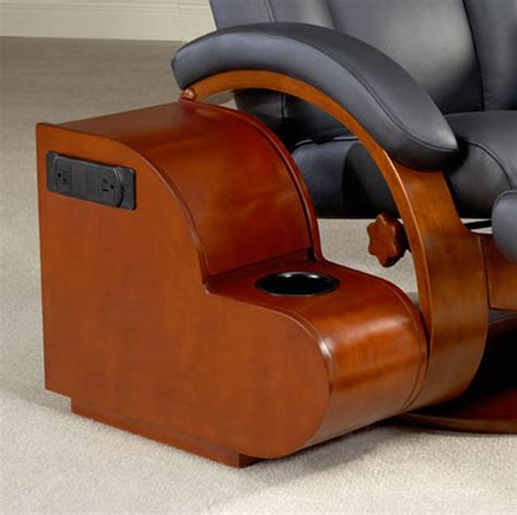 recliner with storage ottoman mac motion oslo 54 leather swivel recliner and