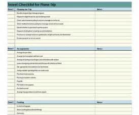 travel checklist template travel checklist spreadsheet