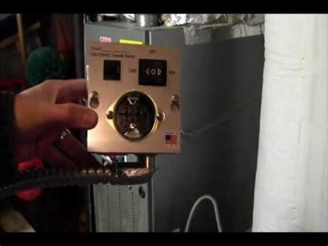 ricksdiy how to wire generator transfer switch to a gas