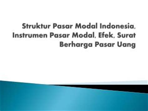 ppt pasar modal di indonesia powerpoint presentation id 5825213