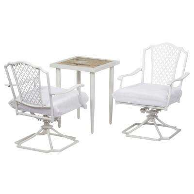 hton bay oak cliff custom 3 piece metal outdoor balcony bistro sets patio dining furniture patio furniture