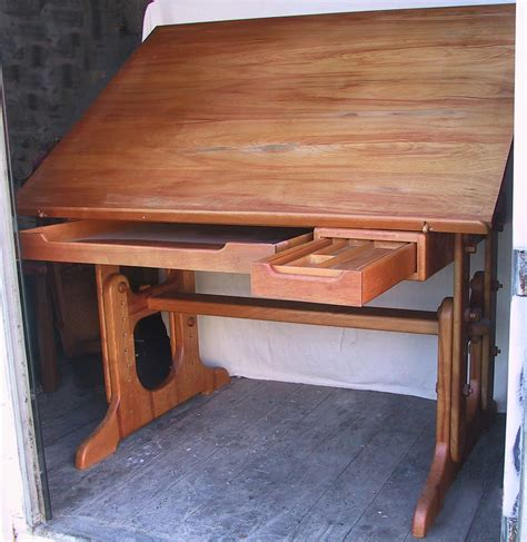 custom drafting table vintage wood drafting table custom solid wood drafting
