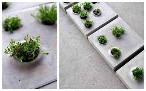 Cement Flower Planters by Paving Planting The Enduring Gardener