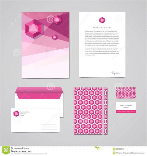 corporate identity design template documentation for