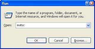 mstsc console command run command for remote desktop rdp client
