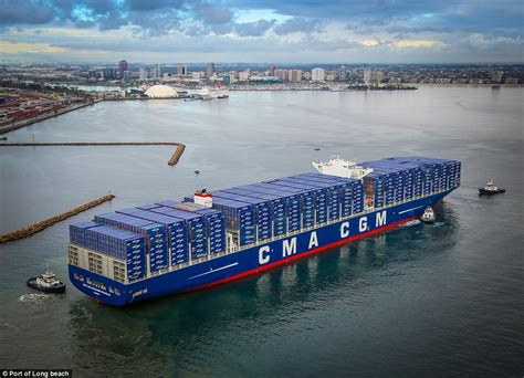 boat shipping california biggest container ship ever to dock in america benjamin