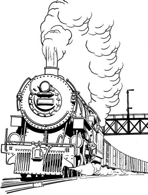 coloring pages trains steam long smoke of steam train coloring page netart