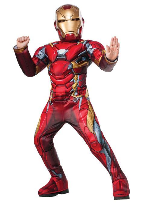 boys elite civil war iron man costume