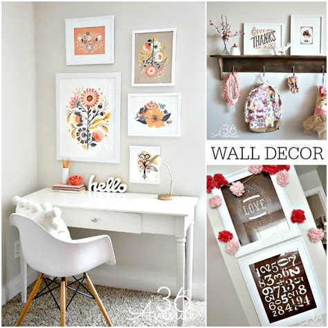 home office wall decor ideas the 36th avenue home decor dressing up the walls the