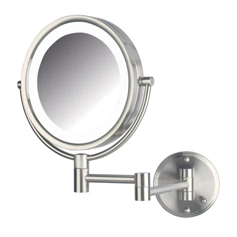 Cermin Lu Led Make Up Mirror 8 Led Lights 1 jerdon 11 in x 14 in bi view led lighted wall mirror hl88nld the home depot
