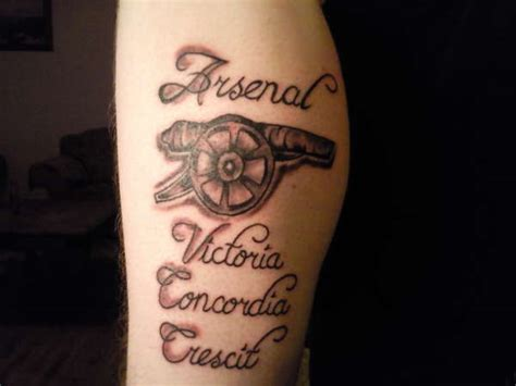 arsenal tattoo arsenal