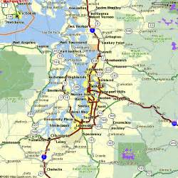 Seattle Tacoma Map seattle area regional map