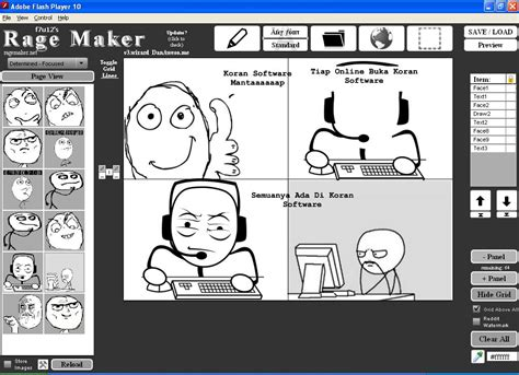 Meme Rage Generator - gamesoft rage maker software pembuat komik meme