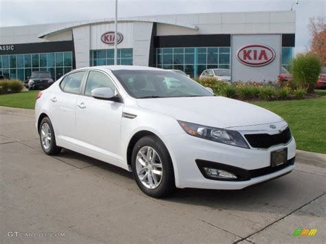 Kia Optima 2012 White Snow White Pearl 2012 Kia Optima Lx Exterior Photo