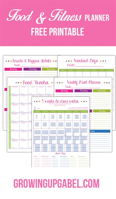printable diet and exercise planner avoid quot hanger quot with a fitness and food planner