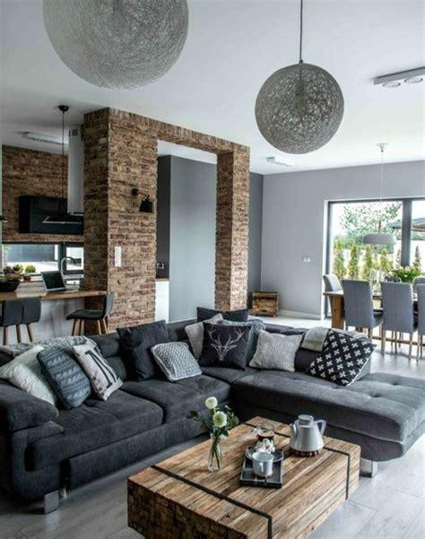 deco salon avec canape gris d 233 co salon formidable studio avec un salon gris et blanc