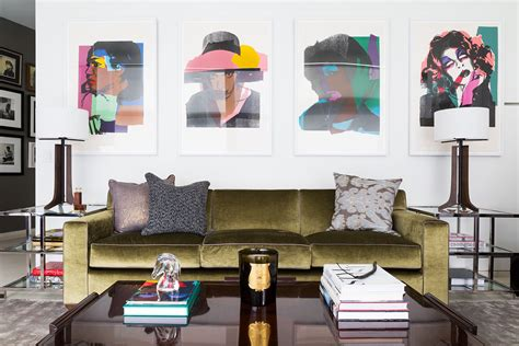 hanging pictures height above couch master class home tours 2014 lonny