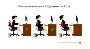Desk Ergonomics Tips Safety Training Ergonomics Training Through Elearning Part 1