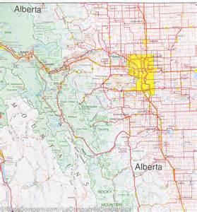 map of southwestern alberta and southeastern