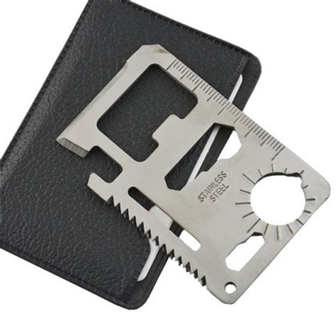 credit card knif multi tools 11 in 1 multifunction outdoor survival