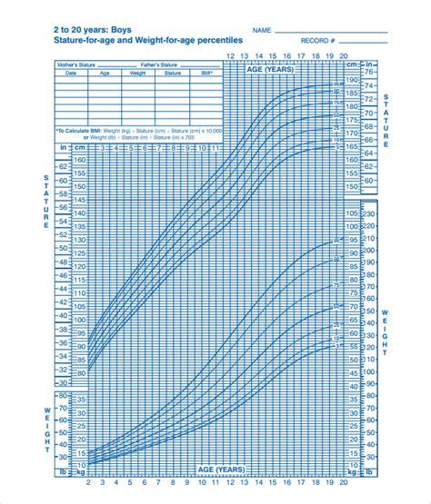 cdc growth chart 9 sle cdc growth charts sle templates
