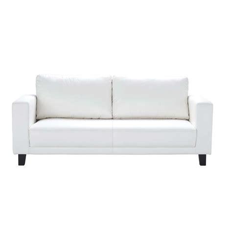 White Sofa by 3 Seat White Sofa Nikeo Nikeo Maisons Du Monde