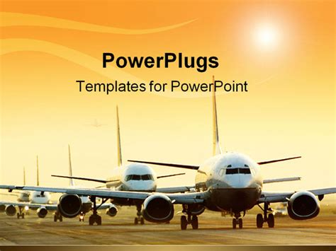 The Gallery For Gt Dark Purple And Blue Background Airport Ppt Template Free
