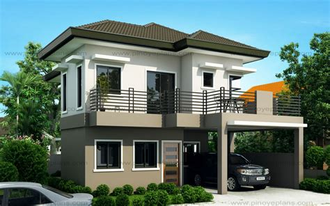 Kitchen And Living Room Designs Sheryl Four Bedroom Two Story House Design Pinoy Eplans