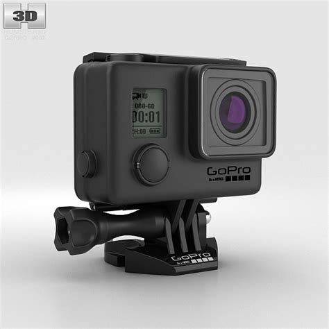 gopro models gopro hero3 blackout housing 3d model humster3d