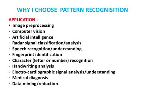 implementation of different pattern recognition algorithm implementation of different pattern recognition algorithm