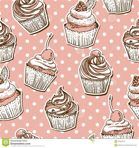 seamless pattern cake seamless pattern with cakes royalty free stock images