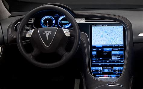 Tesla Model S Dashboard 2012 Tesla Model S Dash View Photo 5