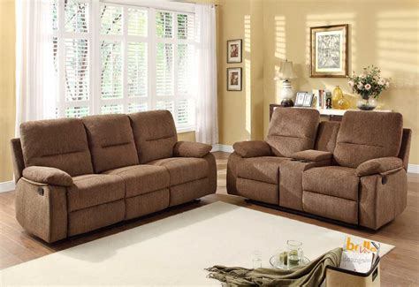 homelegance marianna reclining sofa set dark brown