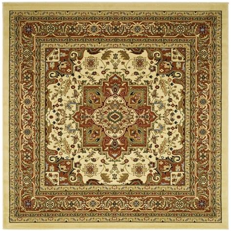 Square Carpets Rugs by Pattern Lyndhurst Ivory Rust Area Rug 6 Square