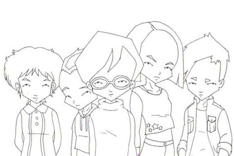 code lyoko free colouring pages