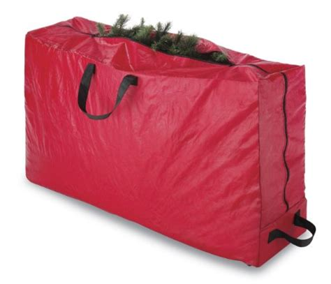 durable rolling christmas tree storage bag container with